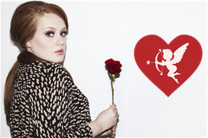 Adele hold rose in her hand