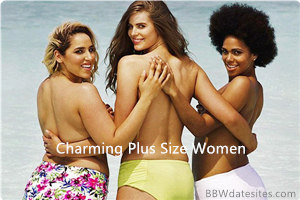 3 plus size women at the beach
